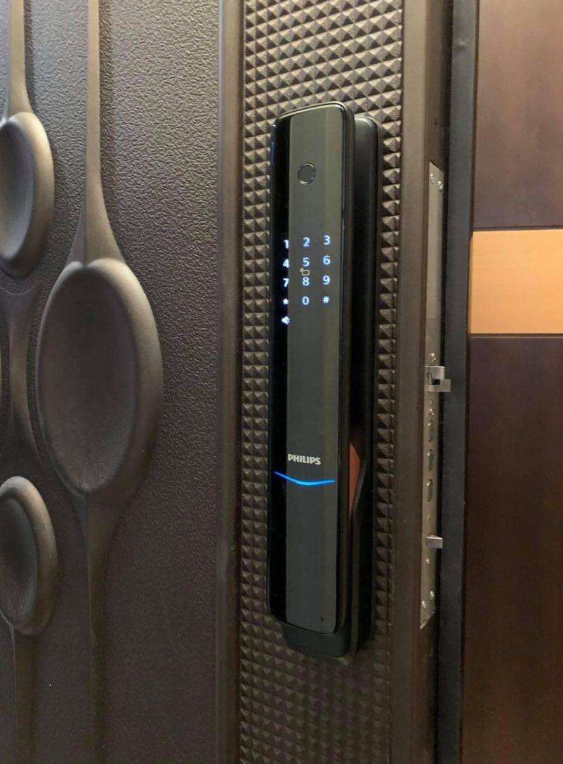 飛利浦電子鎖-9300黑-實際安裝